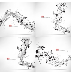 Music abstract musical vector image vector image