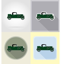 Old retro transport flat icons 03 vector