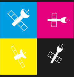 Satellite sign white icon vector
