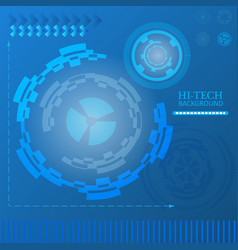 Sci-fi futuristic user interface abstract vector