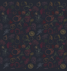 Seamless fruit pattern vector