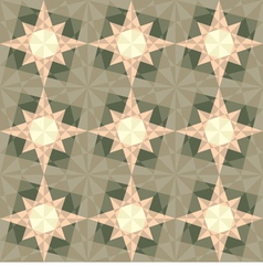 seamless set geometric pattern with stars vector image