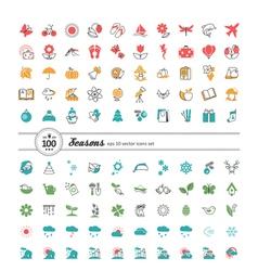 Set of web icons season weather vector