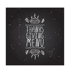 Thanksgiving menu - typographic element vector image