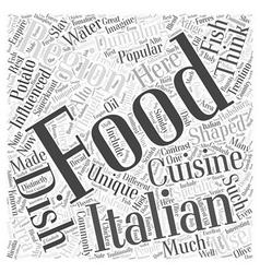 The italian food of trentino alto adige word cloud vector