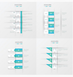 Timeline design 4 item blue gradient color vector