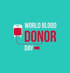 World blood donor day style background vector