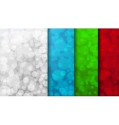 Set of color blurred backgrounds vector image