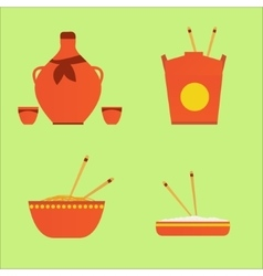 Chinase food and drink vector