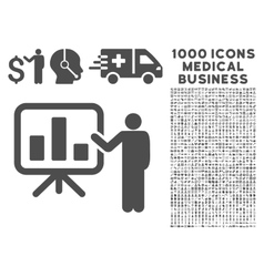 Presentation icon with 1000 medical business vector