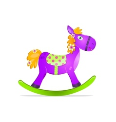 Violet rocking horse toy vector