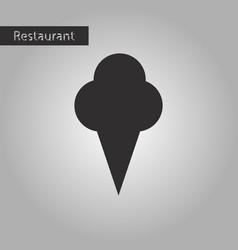 black and white style icon ice cream cone vector image
