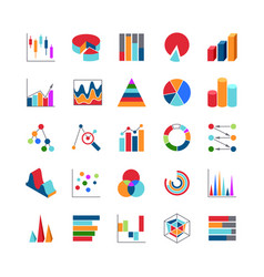 Market trends business data charts icons stats vector