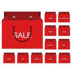 modern shopping icons set vector image