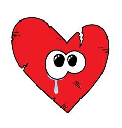 Cartoon broken heart vector image