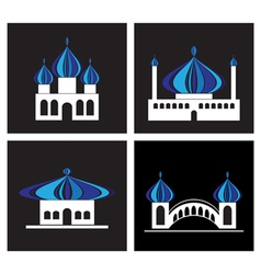 templeicons vector image