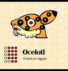 Aztec symbol Ocelotl vector image