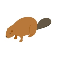 Beaver icon isometric 3d style vector image