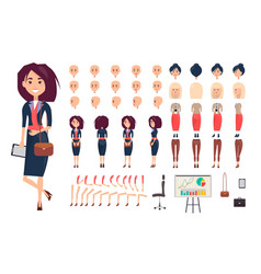 businesswoman constructor isolated vector image vector image