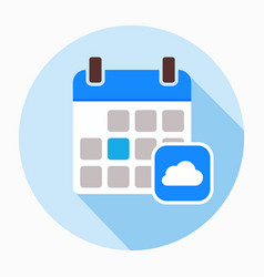 Calendar with clouds icon vector
