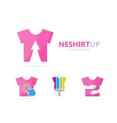cloth and arrow up logo combination vector image vector image