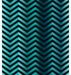 Dark turquoise gradient chevron seamless pattern vector image vector image