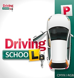 Driving school vector