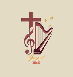 emblem christian music vector image vector image