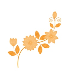Hand drawing florals vector image