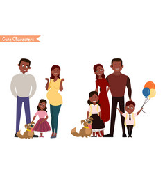happy family in the white background vector image vector image