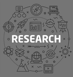 linear research vector image