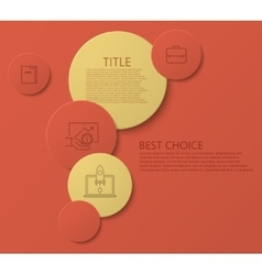modern circle technology infographic vector image vector image