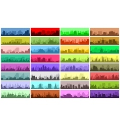 Set of city banners vector image