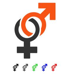 Sexual symbols flat icon vector