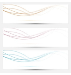 Transparent web headers with swoosh elements vector image