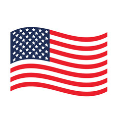usa flag united states america vector image