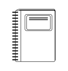 Wired notebook school supply icon image vector