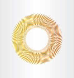 yellow abstract circle background vector image vector image