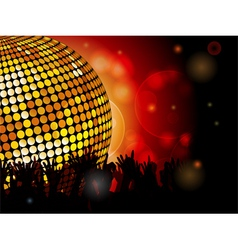 Disco ball and crowd vector