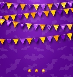 Halloween Party Background with Bunting vector image