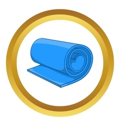 Fitness mat icon vector