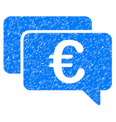 Euro messages icon grunge watermark vector