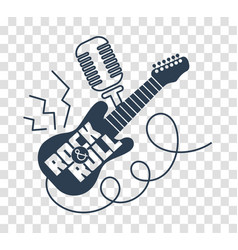 Silhouette icon rock-n-roll day vector