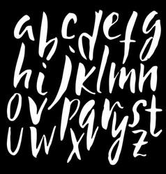 Handwritten dry brush font modern brush lettering vector