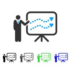 Trends presentation teacher flat icon vector