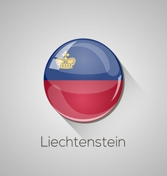European flags set - liechtenstein vector