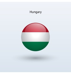 Hungary round flag vector