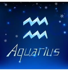 01 aquarius horoscope sign vector