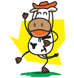 Cowboys cow vector