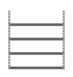 Empty metallic storage shelves vector